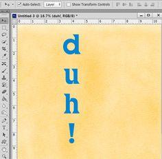 Text Orientation in Photoshop and Photoshop Elements | theStudio | Digital Scrapbooking Studio