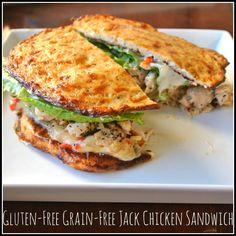 Gluten Free, Grain Free Monterrey Jack Chicken Sandwich
