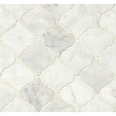 Marble Mosaic Tile in White Carrara by Wayfair