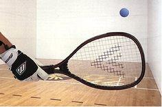 Racquetball Racquet & Ball.