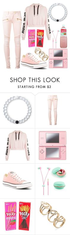 """Untitled #345"" by creepymidnight on Polyvore featuring beauty, Lokai, Balmain, Nintendo, Converse and Samsung"