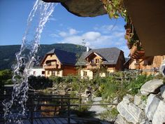 St Martin Chalets in summer