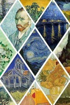 "decomposion: "" Art history meme (x) - artists - Vincent van Gogh "" Vincent Van Gogh, Van Gogh Wallpaper, Wallpaper Backgrounds, Wallpaper Desktop, Girl Wallpaper, Disney Wallpaper, Cartoon Wallpaper, Wallpaper Quotes, Glitter Wallpaper"