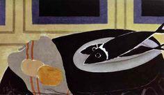 'ブラックフィッシュ', キャンバスに油彩 バイ Georges Braque (1882-1963, France)
