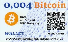 0,004 Bitcoin NFC peňaženka – DiGiPAY.sk