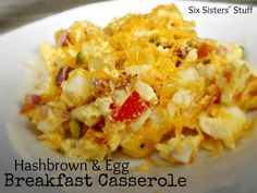 Hashbrown and Egg Breakfast Casserole from SixSistersStuff.com- also makes a quick and delicious dinner!
