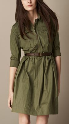 Burberry Shirt Dress with Leather Belt Indian Gowns Dresses, Indian Fashion Dresses, Girls Fashion Clothes, Teen Fashion Outfits, Cute Casual Outfits, Pretty Outfits, Stylish Outfits, Stylish Dresses For Girls, Stylish Dress Designs