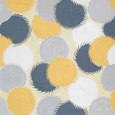 Elza Sunderland. Textile Design of Whirling Circles | LACMA Collections