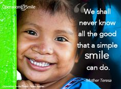 """""""We shall never know all the good that a simple #smile can do."""" ~Mother Teresa #CharityDayUN"""