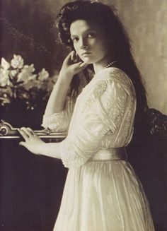 Grand Duchess Tatiana, 1910. She was murdered, along with the rest of the Tsar's family, in 1918.