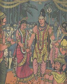 Shiva Parvati Images, Lord Krishna Images, Shiva Shakti, Durga Images, Krishna Leela, Krishna Hindu, Hare Krishna, Mahavatar Babaji, Indian Art Gallery
