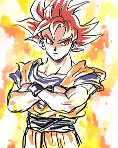 I think this form is my favorite on Goku <3