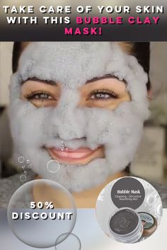 😌Clean your pores the best way!😌 🤗Cleanse your pores with our premium bubble clay mask! 🤗 One mask for make-up and face cleansing, all in one!🤯 Get your daily bubbly treatment💥 Price went 🔽 ❗❗❗Get it while it's OFF❗❗❗ care videos Bubble Clay Mask Beauty Tips For Glowing Skin, Beauty Skin, Natural Beauty, Natural Skin, Natural Hair Shampoo, Beauty Tips For Face, Natural Hair Styles, Skin Tips, Skin Care Tips