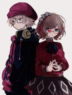 Anime Love, Anime Guys, Manga Anime, Anime Siblings, Cute Anime Couples, The Wolf Game, Anime Monochrome, Anime Best Friends, Dark Anime