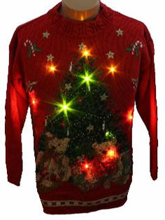 Lightup Ugly Christmas Sweater. Oh yes.