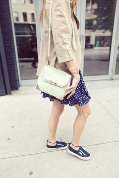 Cute way to wear Superga sneaks!