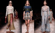 valentino spring 2015 - Like a cinematic flashback, much of the collection was cast in soft focus, the dreamy nostalgia captured with a breathtaking group of rainbow pastels: ...