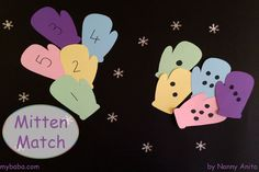 A simple maths activity for preschoolers - match the number to the right number of dots. Simple Math, Winter Theme, Preschool Activities, Maths, Counting, Number, Kindergarten Activities