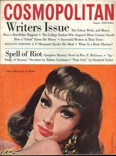 Cosmopolitan magazine AUGUST 1959 Model: Gina Lollobrigida as Sheba Artist: Jon Whitcomb
