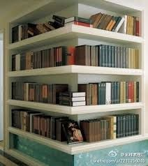 Home Library ~ corner bookshelves Corner Bookshelves, Bookcases, Book Shelves, Bookshelf Ideas, Bookshelf Wall, Library Shelves, Bookshelf Design, Shelving Ideas, Storage Ideas