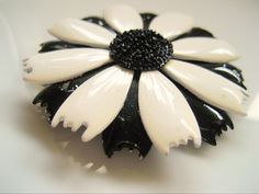 Black and White Brooch