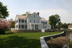 New House - Southport, CT - traditional - Exterior - Other Metro - Peter Zimmerman Architects Traditional Exterior, Traditional House, American Farmhouse, Southport, My Dream Home, Dream Homes, Dream Big, Elegant Homes, Pool Houses