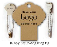 Necklace Display # 0214 Fold Over Hang Tags  Necklace Hair Accessories Jewelry Display Hair Band Holder