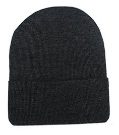 Men Accessories - Romano Mens Black Warm 100 Wool Winter Skull Hat Cap * Check out this great product.