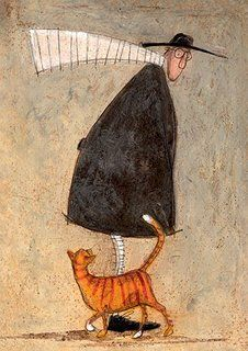 """ A Cat Called Pumpkin Pie "" Sam Toft Open Greeting Card - ST985"