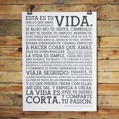 Holstee Life Manifesto en Espagniole Poster