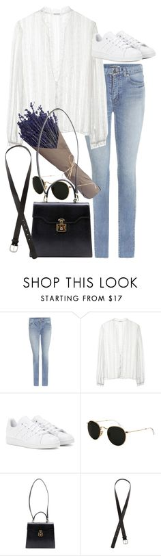 """Untitled #9347"" by nikka-phillips ❤ liked on Polyvore featuring Yves Saint Laurent, Rodarte, adidas, Ray-Ban, Gucci and H&M"