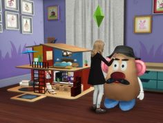PQSims4: Great toys: doll house and Mr.Potato • Sims 4 Downloads