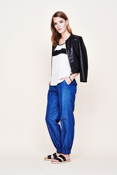jeans, meet jog pants: your new favorite trousers are summer denim perfected. toss a sleek leather jacket over your shoulders to dress things up a bit. (july 2015)