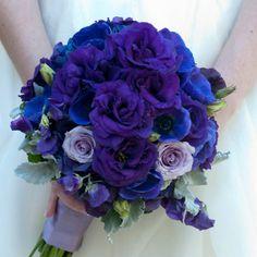 Deep purple rose bridal bouquet // Bouquets Of Austin