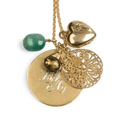 personalised 18ct gold vermeil medal necklace by sibylle jewels | notonthehighstreet.com
