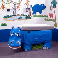 (Limited Supply) Click Image Above: Pedia Pals Zoopals Pediatric Exam Table - Hippo Office Wall Art, Office Decor, Office Ideas, Underwater Theme, Medical Office Design, Nursing Supplies, Hospital Design, Clinic Design, Pediatric Nursing
