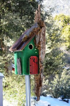 Outdoor Birdhouse Blue Bird, Woodpecker, Chickadee Birds House, Rustic…