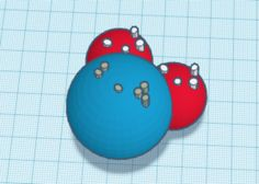 Water Molecule or Compound model ( Braille Labeled) 3D Print 144818