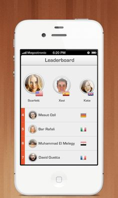 leaderboard pixels1 40 Quality Examples of iOS User Interface Designs