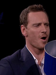 Michael Fassbender **hits play over and over**