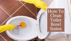 How To Clean Toilet Bowl Stains   5 Quick And Easy Ways Cleaning Floor Grout, Borax Cleaning, Diy Home Cleaning, Household Cleaning Tips, Toilet Cleaning, Bathroom Cleaning, House Cleaning Tips, Diy Cleaning Products, Cleaning Hacks