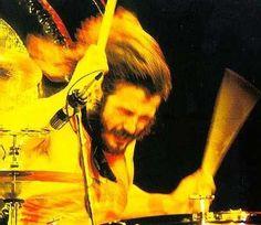 "Led Zeppelin's amazing drummer John Bonham...Rolling Stone's best drummer of all time ""by a large margin"""