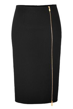 MICHAEL KORS Wool Pencil Skirt in Black