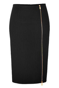 MICHAEL KORS Wool Pencil Skirt in Black