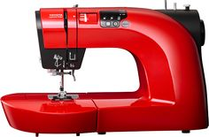Red Oekaki Renaissace. Draw ideas directly onto fabric with our #sewing #machine specifically crafted for #free #motion #embroidery