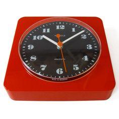 1960s/1970s red plastic Kienzle wall clock