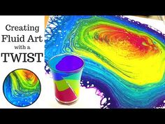 Fluid Art with a TWIST Divided SHOT GLASS Acrylic Pouring Swirl Technique - YouTube