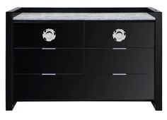 MIC-250-31; Michel 6 drawer (also available in white) 55Wx22Dx37H