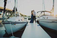 Jacksonville Beach, Florida Engagement photos  fun and unique / lifestyle engagement photos / sailboats
