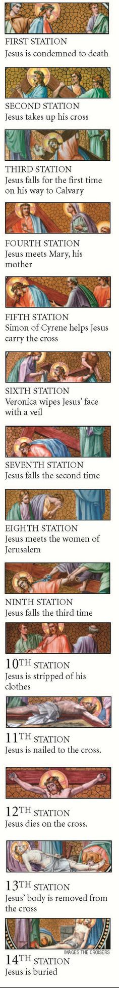 Stations of the Cross and other Lenten traditions http://www.osv.com/Portals/0/images/pdf/LentenGuidePoster.pdf (link takes you to a downloadable PDF)
